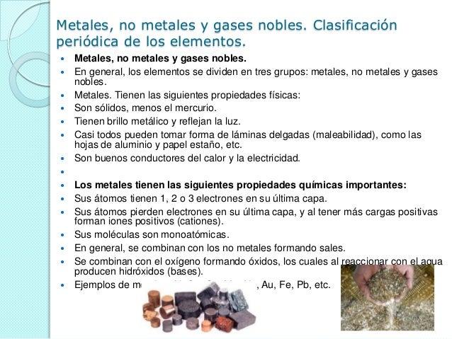 metales no metales y gases nobles clasificacin peridica - Tabla Periodica Metales No Metales Gases Nobles