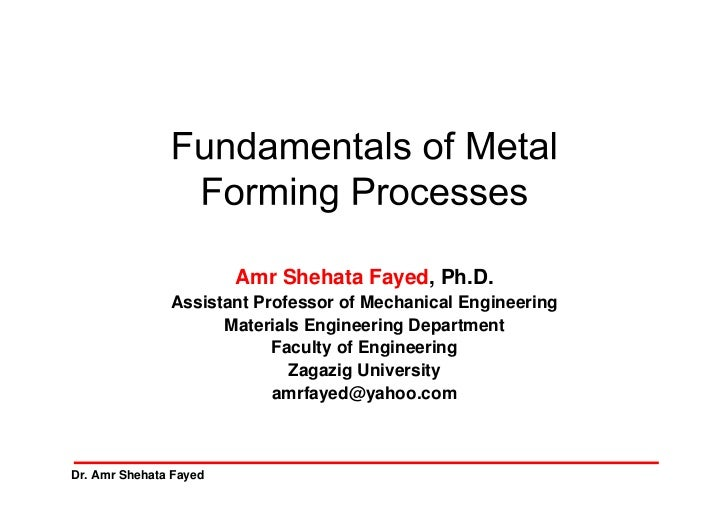 Amr Shehata Fayed, Ph.D.               Assistant Professor of Mechanical Engineering                     Materials Enginee...