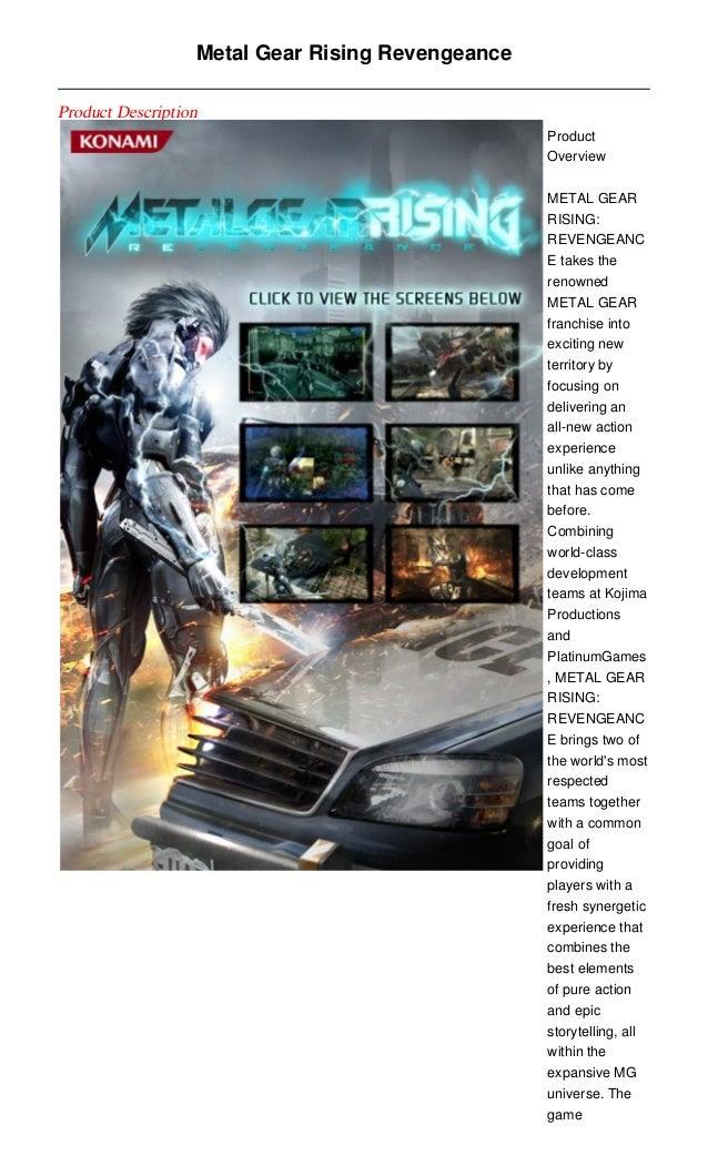 Metal Gear Rising RevengeanceProduct Description                                                  Product                 ...