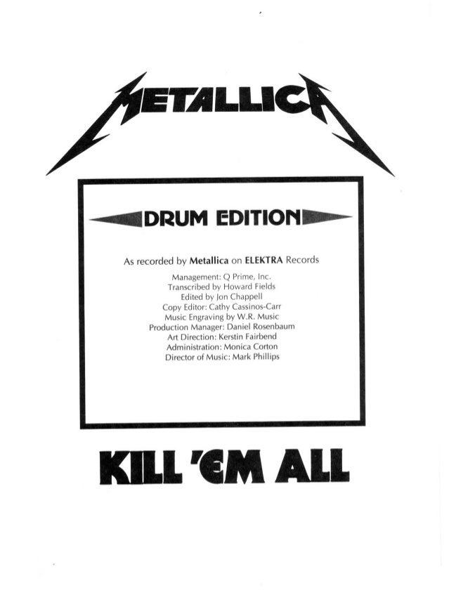metallica kill em all drum book