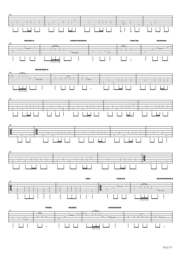 Metallica one solo tab