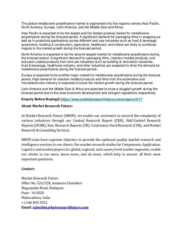 Metallocene polyethylene market