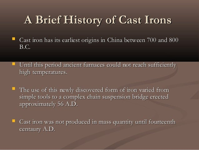 Origin Of Iron ~ Metallurgical properties of cast irons