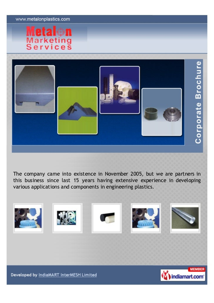 The company came into existence in November 2005, but we are partners inthis business since last 15 years having extensive...