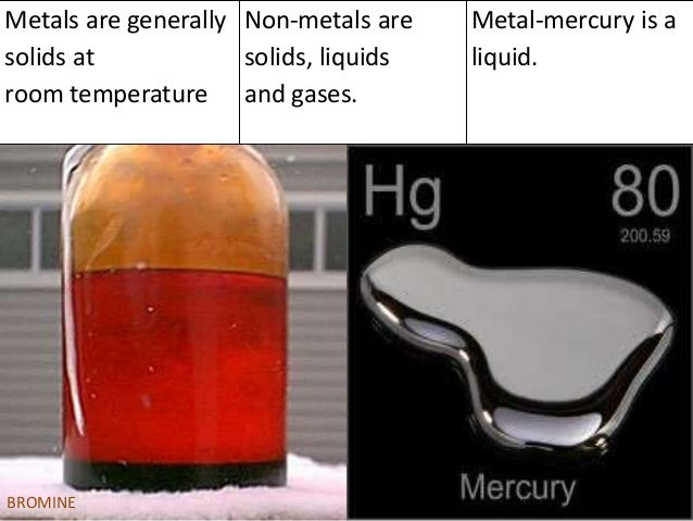 Bromine And Mercury Are Liquids At Room Temperature