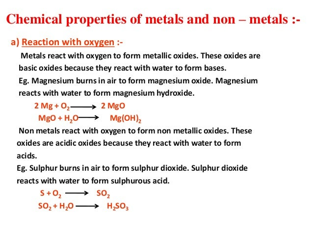 Metals and non metals without animatiopn