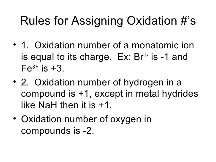 Metals non metals and oxidation 13 rules for assigning oxidation urtaz Images