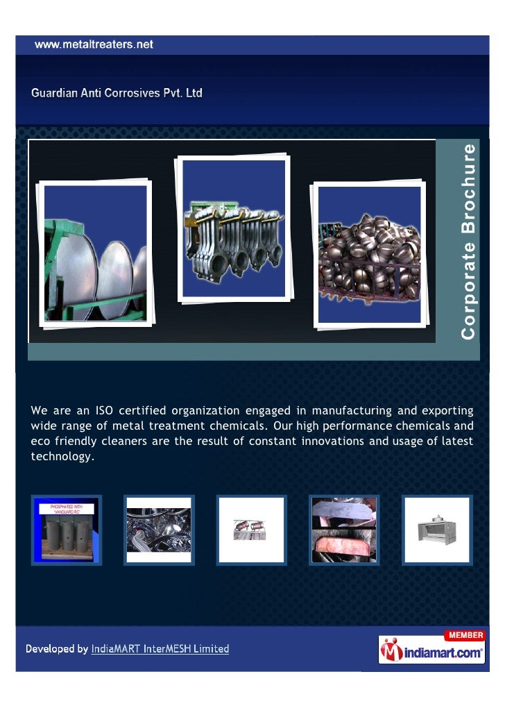 We are an ISO certified organization engaged in manufacturing and exportingwide range of metal treatment chemicals. Our hi...