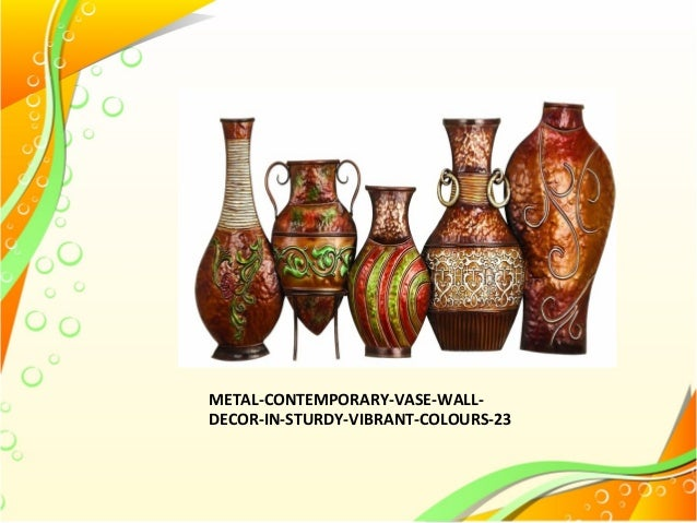 Metal Vases And Decorative Plates