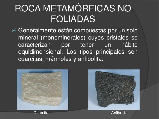 Clasificaci n de rocas metam rficas for Roca marmol caracteristicas