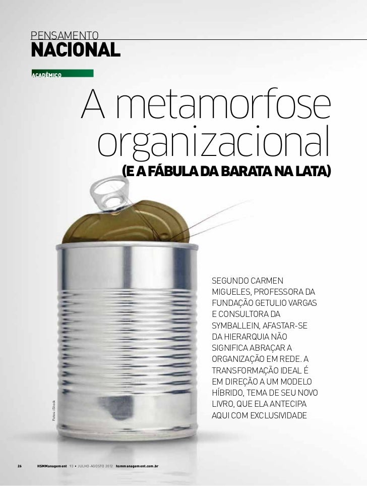 pensamento     nacional     AcadÊMICO                            A metamorfose                             organizacional ...