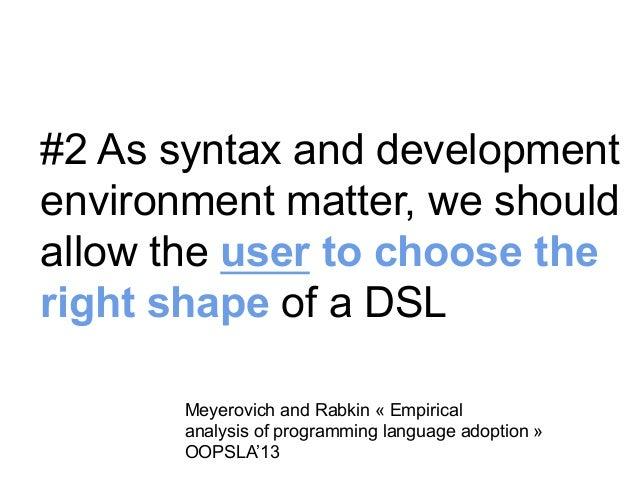 #3 Language  Workbenches  Erdweg et al. SLE'13  23