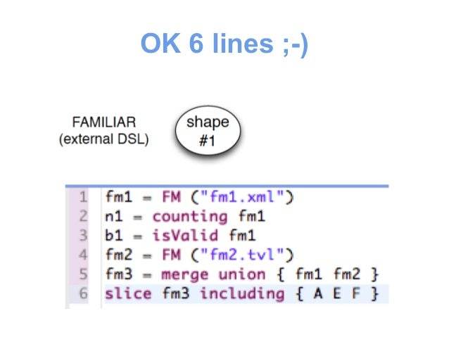 #2  • We shift to a fluent Java API  – easier to integrate to other Java-based tools  – foreach / if then else / string ma...