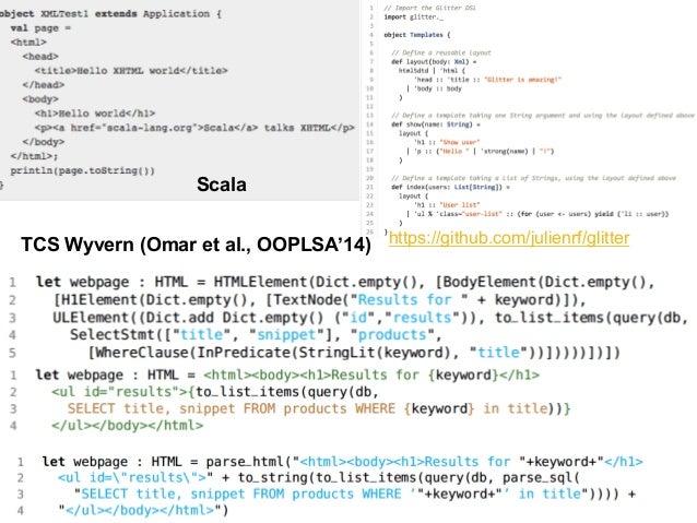 Regular expression  Domain: strings (pattern matching)  77