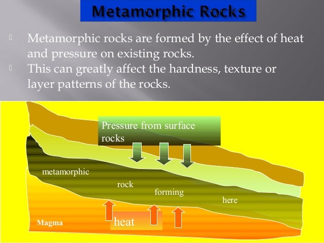 Metamorphic rocks process of formation 2014