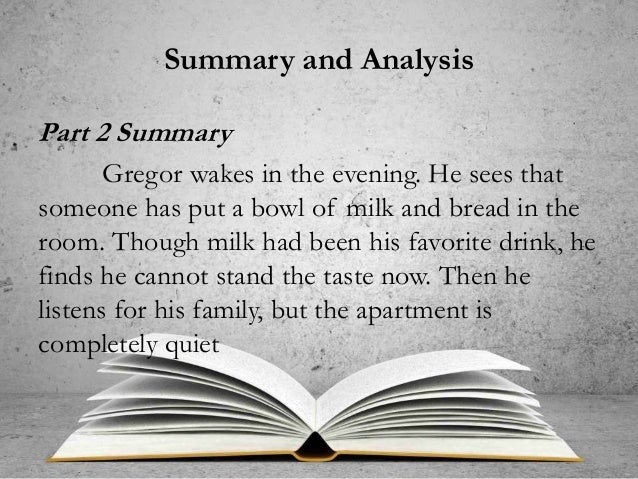 metamorphosis summary analysis The metamorphosis study guide contains a biography of franz kafka, literature essays, quiz questions, major themes, characters, and a full summary and analysis about the metamorphosis the metamorphosis summary.