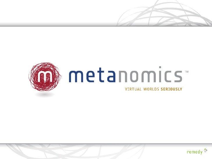 Metanomics Overview