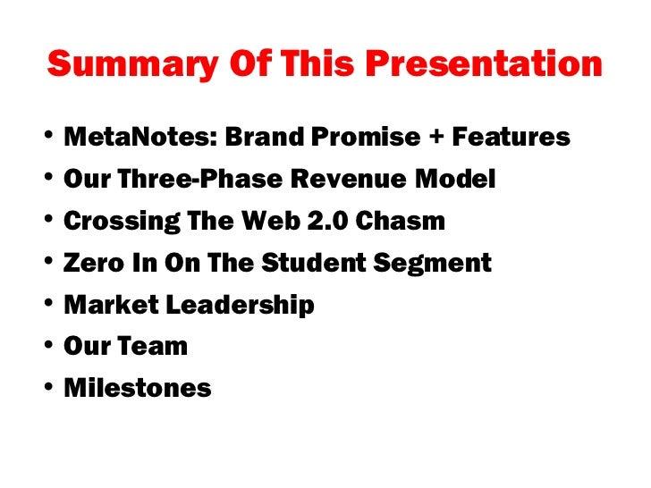 Metanotes Executive Overview