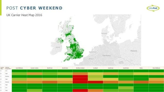 POST CYBER WEEKEND UK Carrier Heat Map 2016