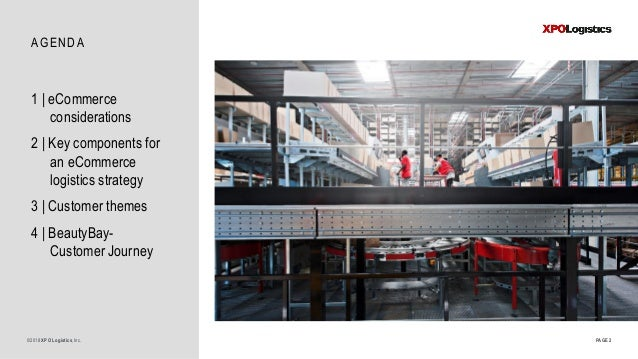 AGENDA PAGE 2©2018 XPO Logistics,Inc. 1   eCommerce considerations 2   Key components for an eCommerce logistics strategy ...