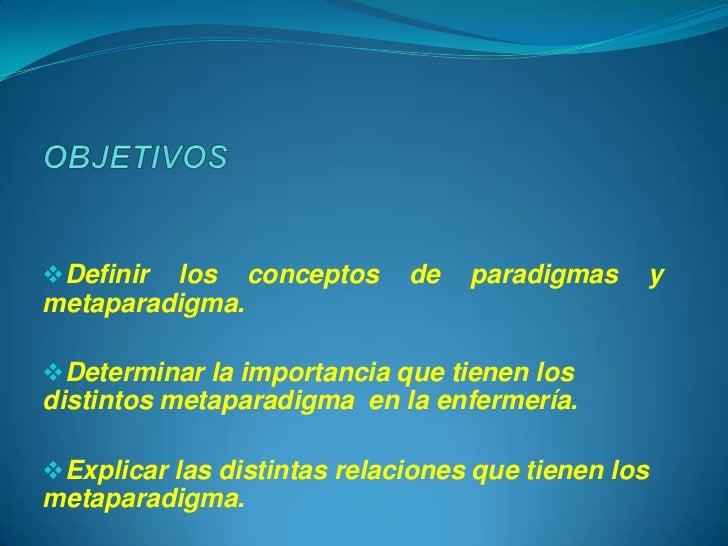 Metaparadigma de enfermería Slide 2
