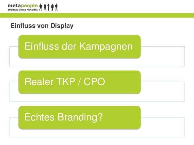Einfluss von Display    Einfluss der Kampagnen    Realer TKP / CPO    Echtes Branding?