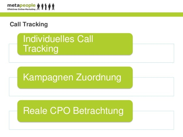 Call Tracking    Individuelles Call    Tracking    Kampagnen Zuordnung    Reale CPO Betrachtung