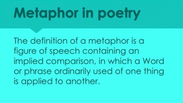 Metaphor in Poetry