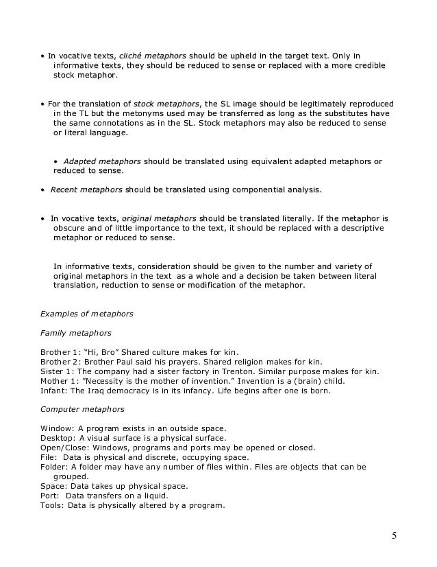 Family Metaphor Examples Gallery Example Cover Letter For Resume