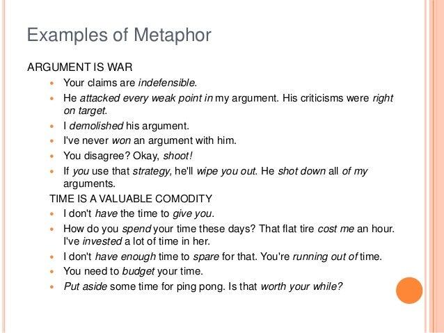 Metaphor Examples Romeondinez