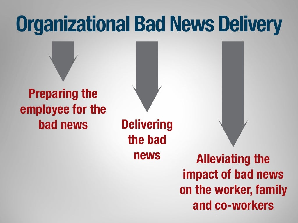 How to deliver bad news to employees - How To Deliver Bad News To Employees 5