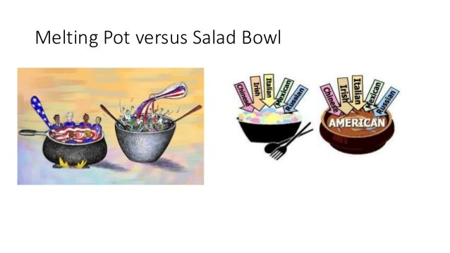 melting pot or salad bowl for They've called us a melting pot, poured into a single space to blend together and  become one we know this is not exactly the way america.