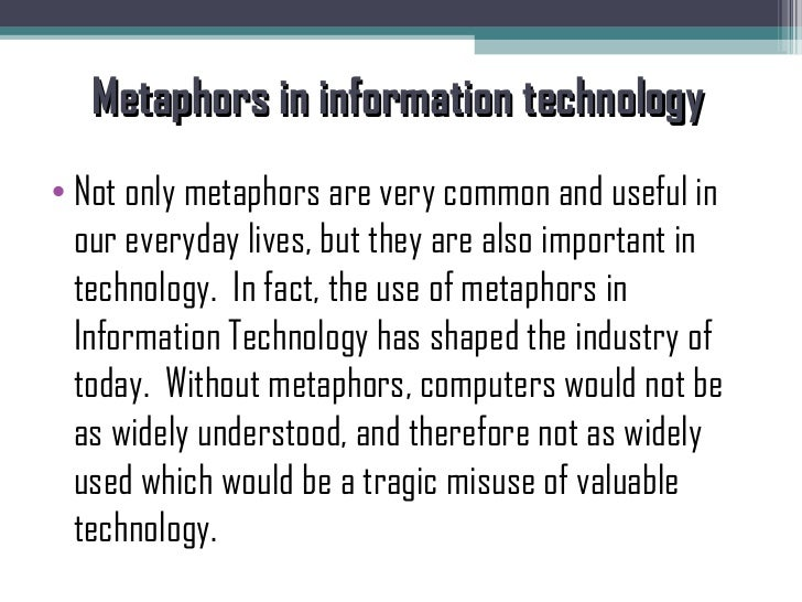 metaphors about technology