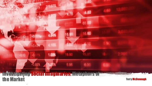 Investigating Social Imaginaries: Metaphors of the Market Terry McDonough