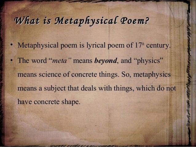Metaphysical poem Slide 3