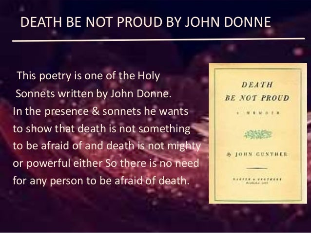 metaphysical poems about death