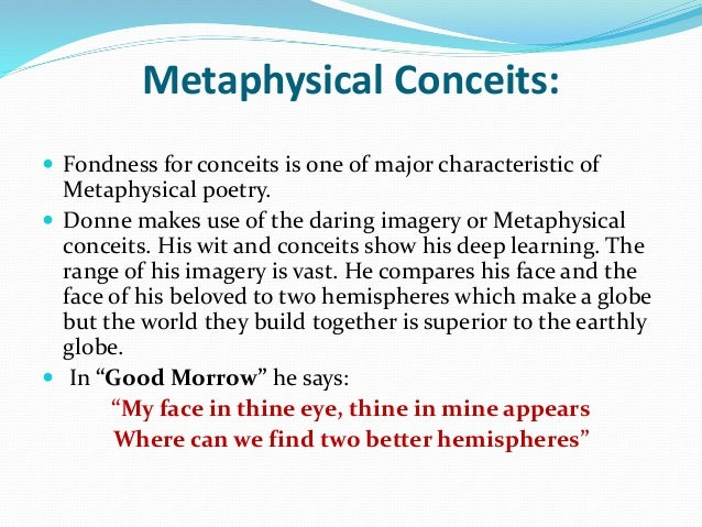 Sun rising john donne there many metaphysical characterist