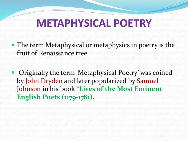 what are the characteristics of metaphysical poetry