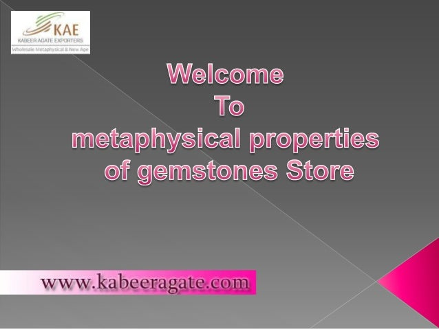 Metaphysical Properties of Gemstones Online Store