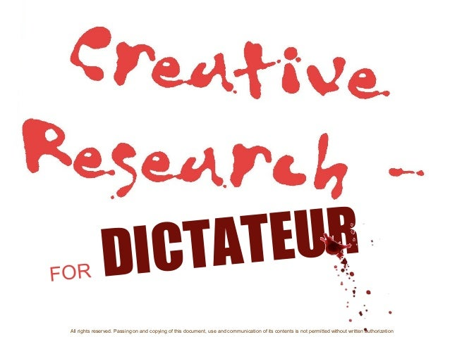 DICTATEUR All rights reserved. Passing on and copying of this document, use and communication of its contents is not permi...