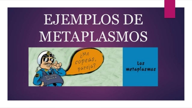 EJEMPLOS DE METAPLASMOS