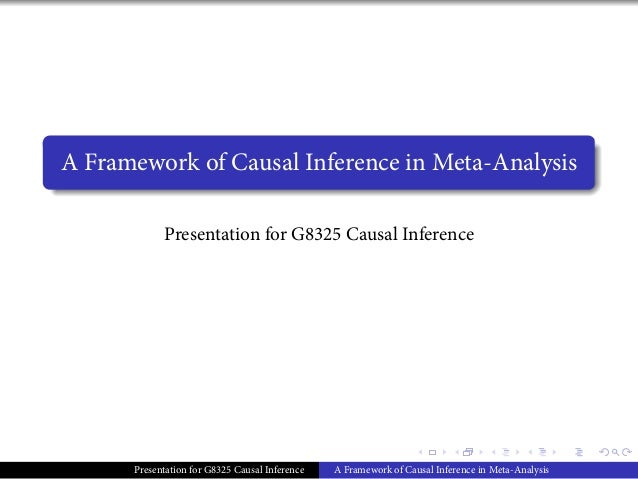. . . . . . . ...... A Framework of Causal Inference in Meta-Analysis Presentation for G8325 Causal Inference Presentation...