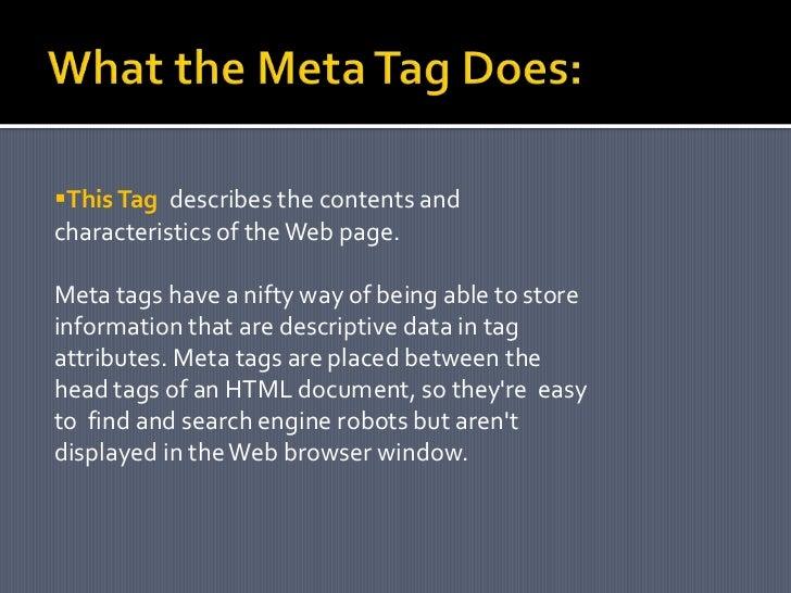 Meta Tag Presentation