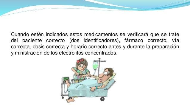Cuando estén indicados estos medicamentos se verificará que se trate del paciente correcto (dos identificadores), fármaco ...