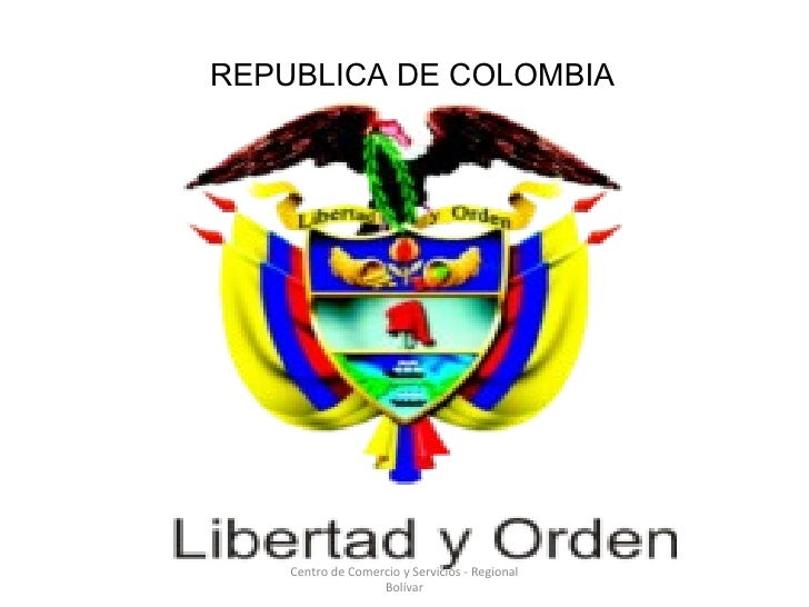 Centro de Comercio y Servicios - Regional Bolívar REPUBLICA DE COLOMBIA