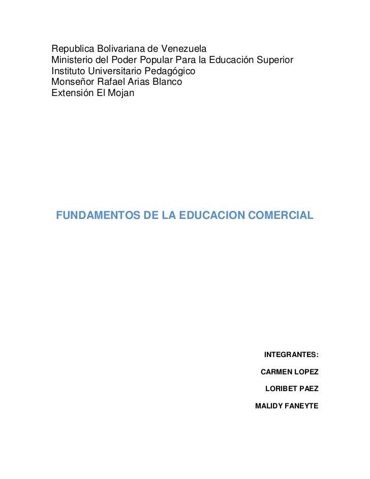 Republica Bolivariana de Venezuela                                                  Ministerio del Poder Popular Para la E...