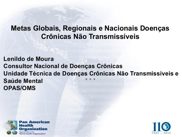 Lenildo de Moura Consultor Nacional de Doenças Crônicas Unidade Técnica de Doenças Crônicas Não Transmissíveis e Saúde Men...