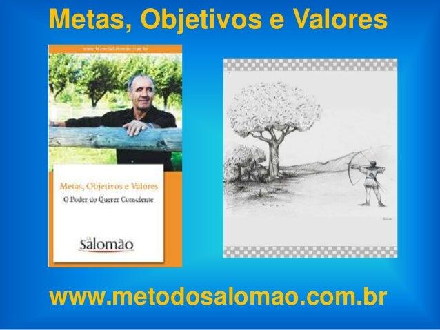 Metas, Objetivos e Valoreswww.metodosalomao.com.br