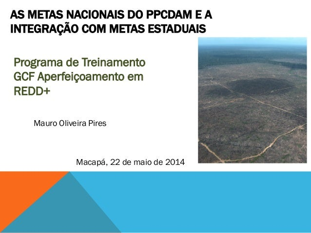 Programa de Treinamento GCF Aperfeiçoamento em REDD+ AS METAS NACIONAIS DO PPCDAM E A INTEGRAÇÃO COM METAS ESTADUAIS Macap...