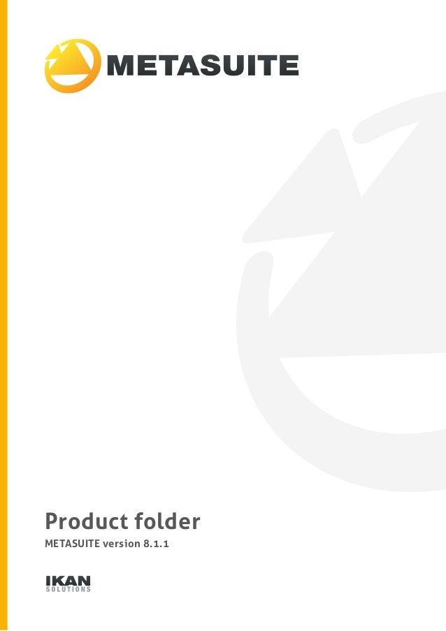 Product folder  METASUITE version 8.1.1